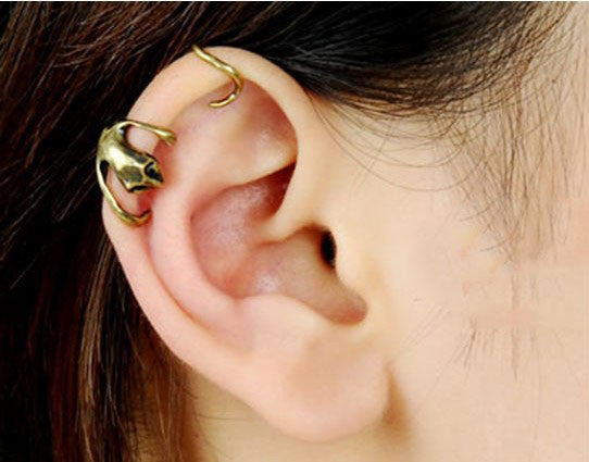 New Personalityl Gecko Animal  Earrings&Ear Clip - lilyby