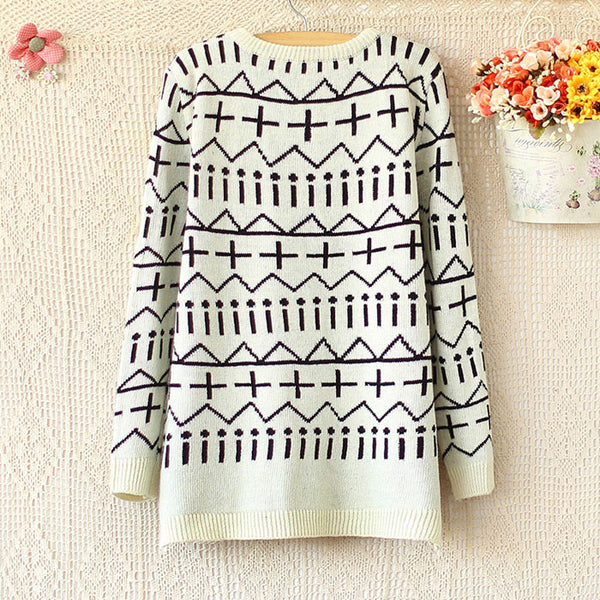 Unique Warm Irregular Long-Sleeved Sweater