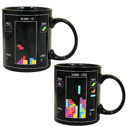 Special Gift Tetris Color Changing Cup Coffee Cup
