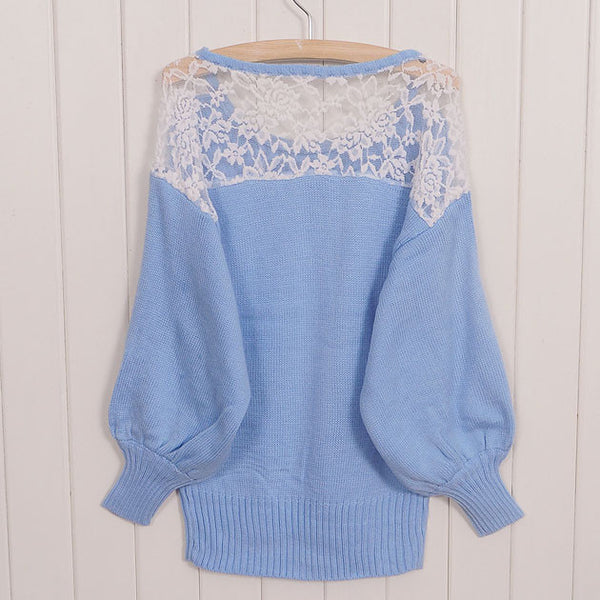Pretty Hollow Crochet Lace Sweater - lilyby