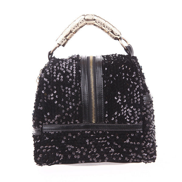 Graceful Sequins Fringeds Messenger Bag - lilyby