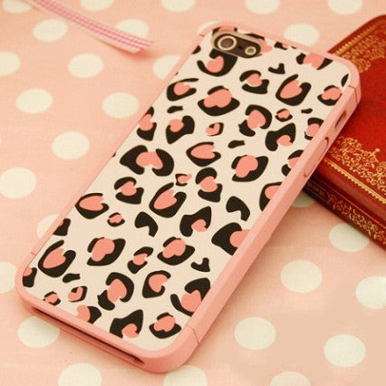 New Pink Leopard Print Hard Cover Case For Iphone 4/4s/5 - lilyby