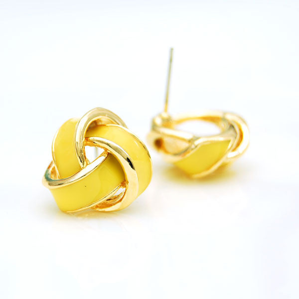 Geometry Spiral Multicolor New Earrings Studs - lilyby