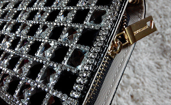 New Leather Rhinestone Crocodile Long Wallet - lilyby