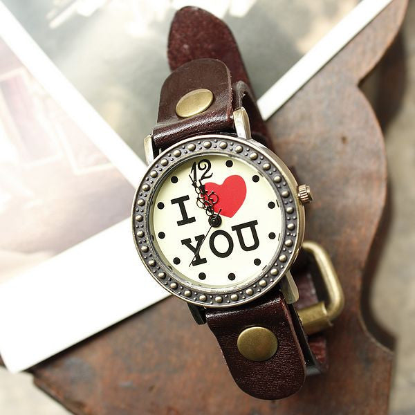 Retro Romantic I love You Watches - lilyby