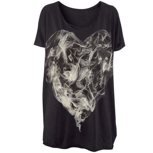 Fashion Mysterious Personality Smoke Painted Printing T-shirt - lilyby