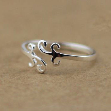 Pretty Simple Cloud Silver Ring - lilyby