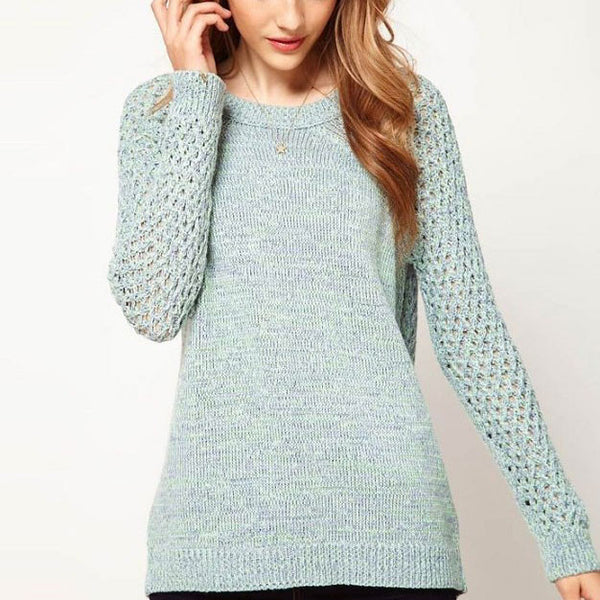 New Back Hollow Twist Sweater & Cardigan - lilyby