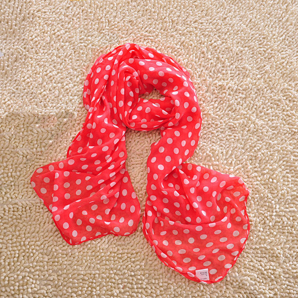 Pretty Wave Point Chiffon Infinity Scarf - lilyby