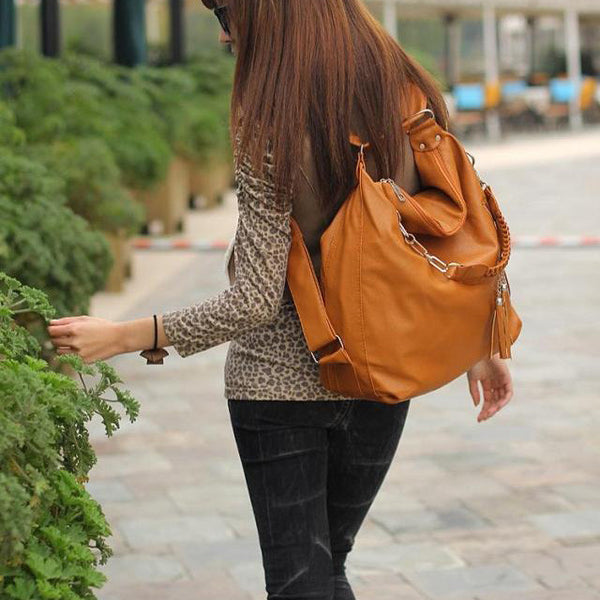 Unique Multifunction Fringed Handbag Shoulder Bags Backpacks
