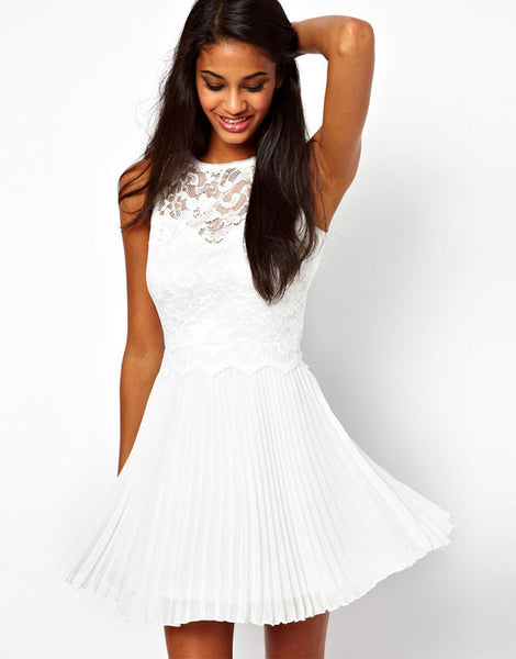 New Lace Embroidered Halter Slim Dress &Party Dress - lilyby