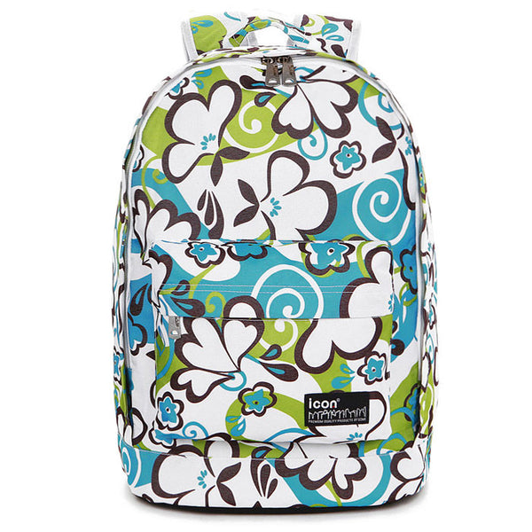 Unique Blue Green Graffiti Waterproof School Backpack