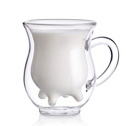 Originality Double Glass Microwavable Cow Cup - lilyby