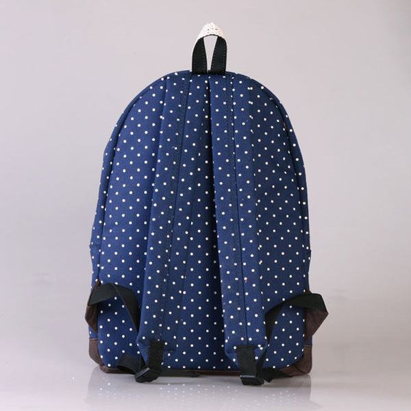 Pretty Lace Bouquet Dot Trunk Canvas Backpack - lilyby