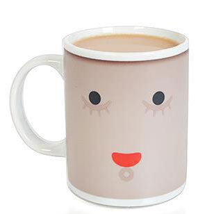 Smile Face Color Changing Ceramic Cup Milk Cup