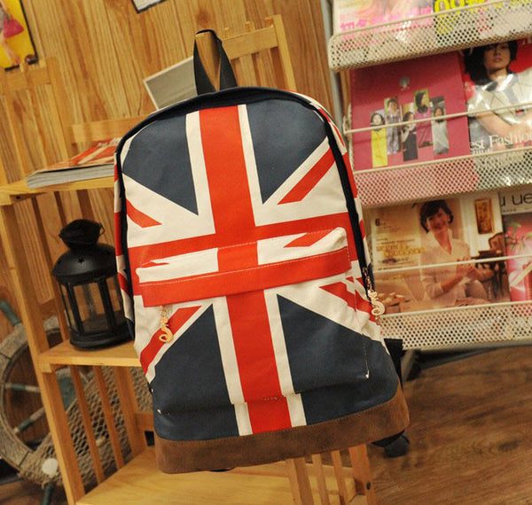 New Canvas British Flag BackPack&Shoulder Bag&School Bag - lilyby