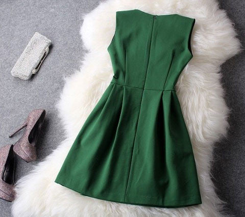 Graceful Green Beading Party Dress (Gift Necklace) - lilyby