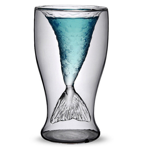 Nice Gift Transparent Mermaid Glass Cup - lilyby