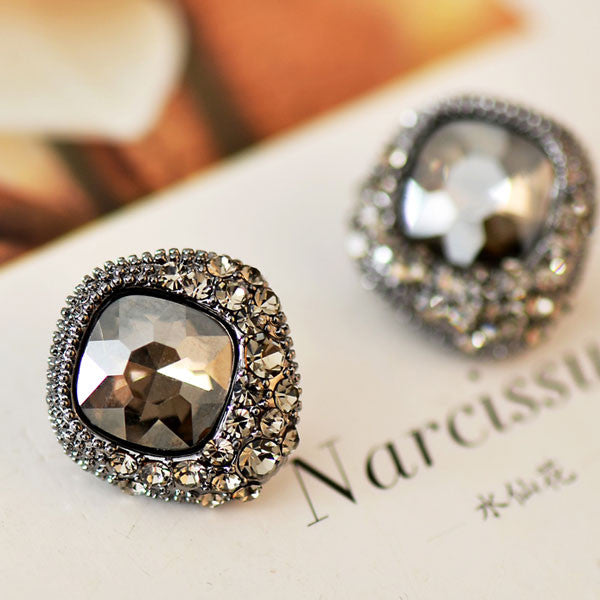 Retro Rhinestone Crystal Wedding Earrings