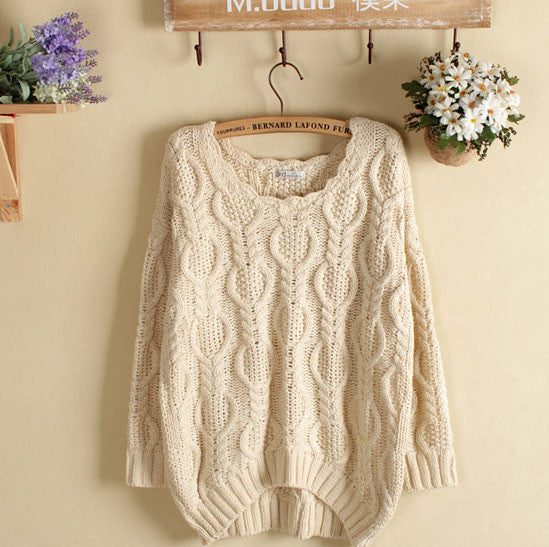 Retro Diamond Twist Knitwear&Sweater - lilyby