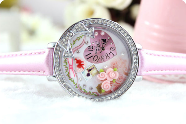 Romantic Bowknot Rose Polymer Clay Watch - lilyby