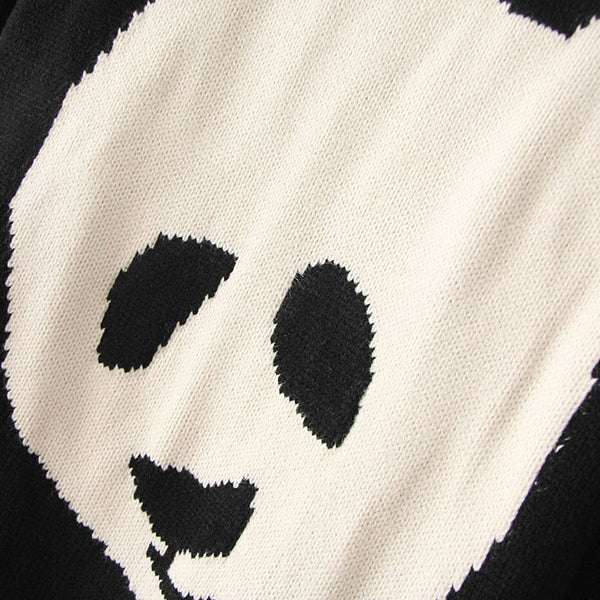 Lovely Cartoon Panda Print Sweater - lilyby