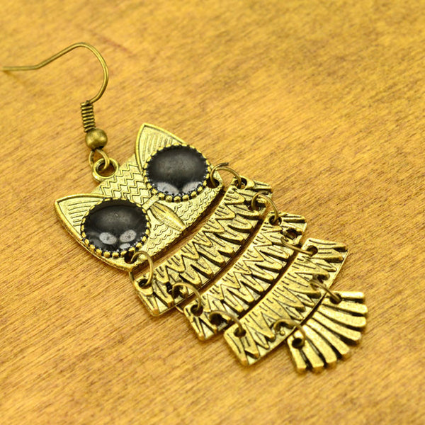 Retro National Owl Earring - lilyby
