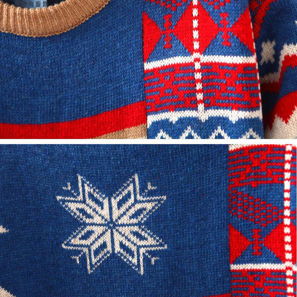 Fashion Deer Snowflakes Sweater Christmas Cardigan - lilyby