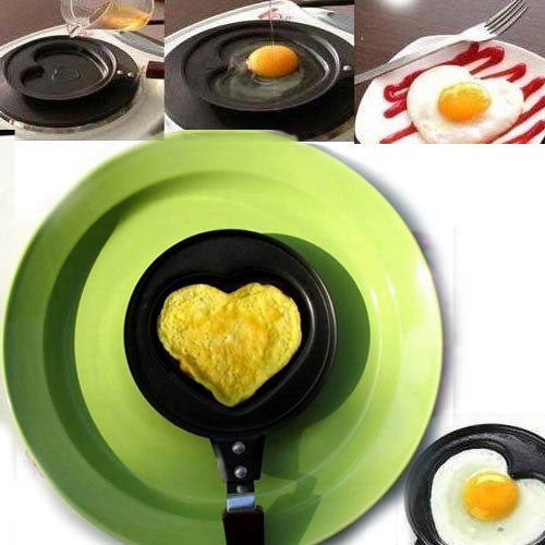 Romantic Gift Funny Shape Stainless Metal Non Stick Frying Pan - lilyby