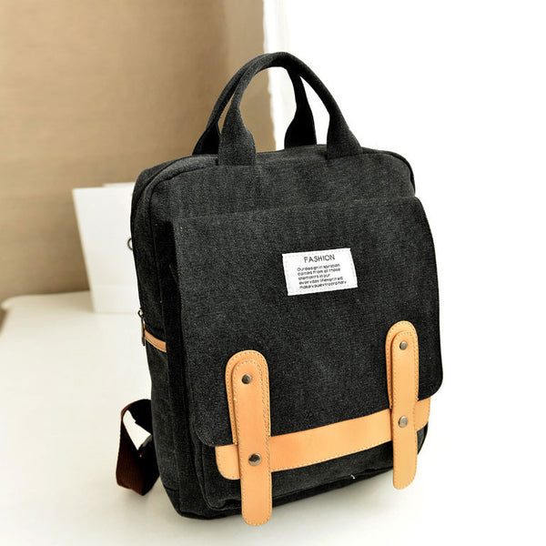 New Leisure School Canvas Backpack - lilyby