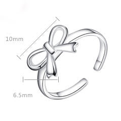 Latest Bowknot Opening Silver Ring - lilyby