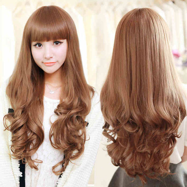Pretty Girl 24 Inch Long Wavy Hair Lace Wigs - lilyby