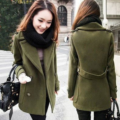 Retro Button Cloak Ladies Woolen Coat - lilyby