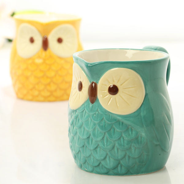 Pretty  Owl Christmas Decoration Gift/Mug Cup/Ceramic Cup - lilyby