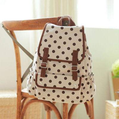 Fresh Dot  Printing Bird College Backapack - lilyby