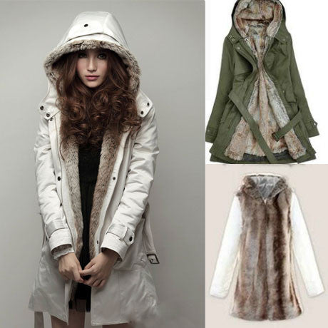Nice Fashion Plush Liner Thick Cotton Windbreaker/Jacket/Coat - lilyby