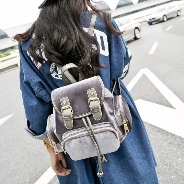 New Multi Pockets Suede School Bag& Backpack - lilyby