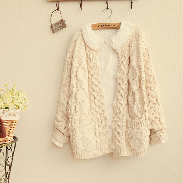 Retro Thick Twist Pullover Sweater - lilyby