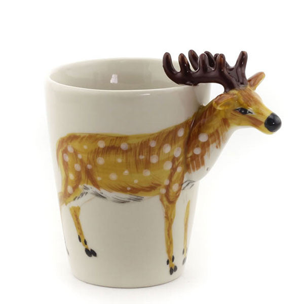 Cute 3D Hand Painted Giraffe/Elephant Animal Pattern Ceramic Mug Cup - lilyby