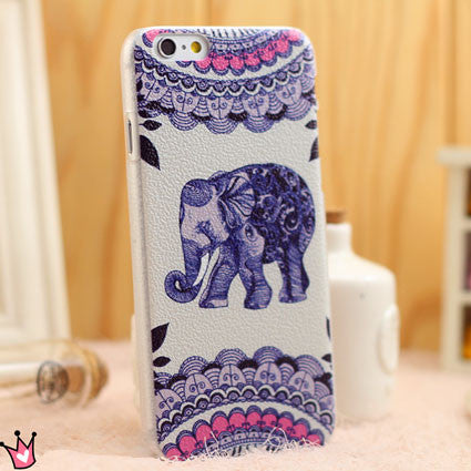 Retro Cute Elephant Folk Iphone 5/5s/6 Cases - lilyby