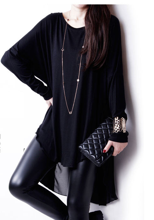 Chiffon Blouse Loose Long-sleeved T-shirt - lilyby