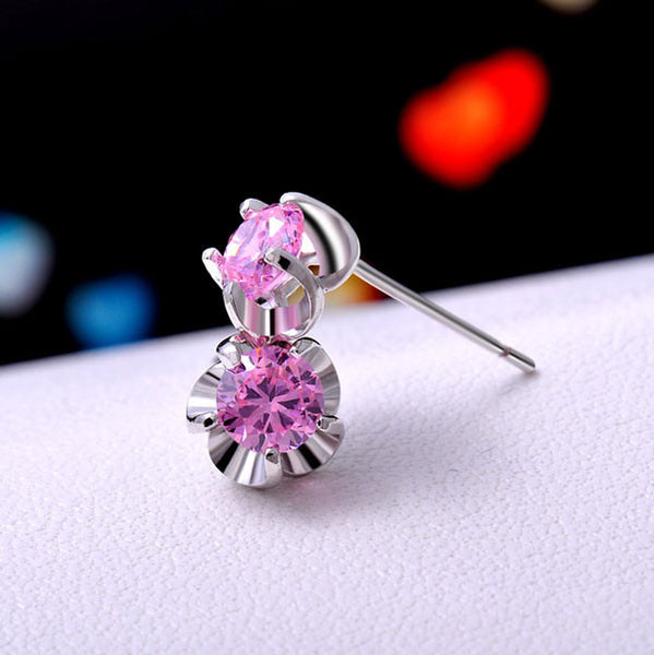 Gold Plated Zircon Stud Earrings/Gift Earrings - lilyby