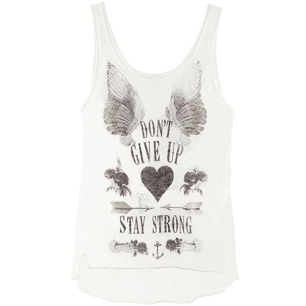 Angle Wings Painted Printing Round Neck Vest - lilyby