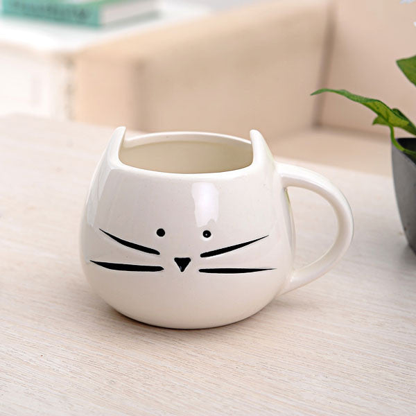 Cute Cat Cartoon Couple Ceramic Mug/Cup - lilyby