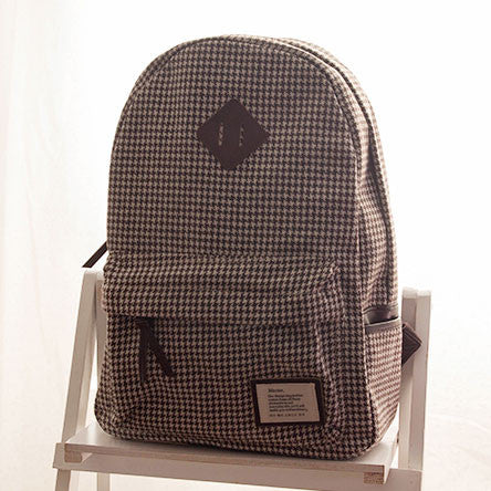 Casual Plaid Pattern Schoolbags Backpacks - lilyby