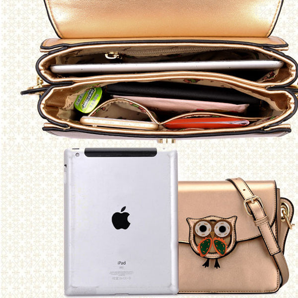 Cute Summer Owl Cartoon Casual Crossbody Bag - lilyby