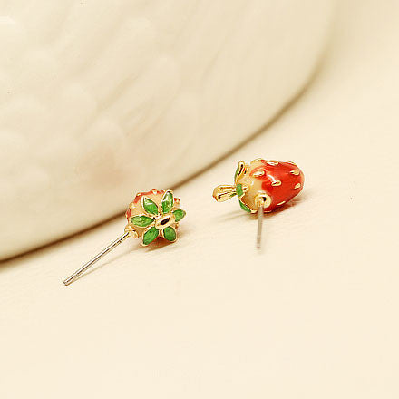 Pretty Latest Cute Strawberry Stud Earrings - lilyby