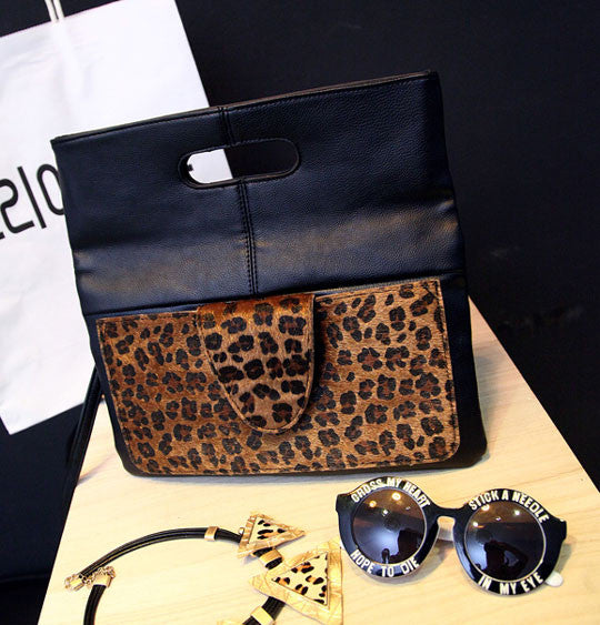 Fashion Horsehair Leopard High-end Packet Envelope Bag - lilyby