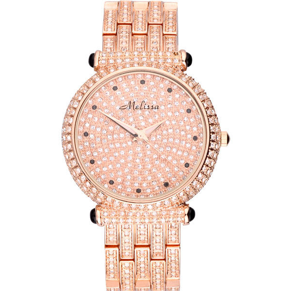 High-end Luxury Bling Rhinestone Quartz Watch - lilyby