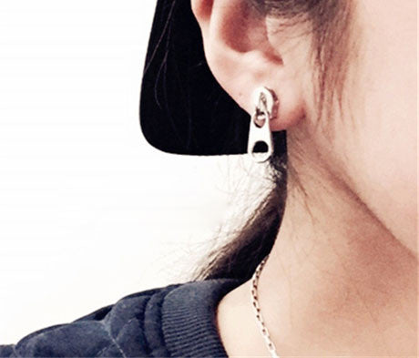 Funny Personality 3D Zipper Earrings studs - lilyby